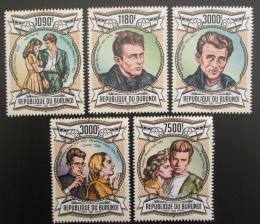Poštovní známky Burundi 2013 James Dean, americký herec Mi# 3068-72 Kat 10€