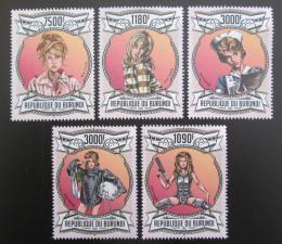 Poštovní známky Burundi 2013 Jane Fonda, americká hereèka Mi# 3073-77 Kat 10€