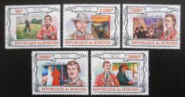 Poštovní známky Burundi 2013 Umìní, Edvard Munch Mi# 3108-12 Kat 8.90€