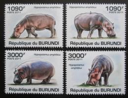 Poštovní známky Burundi 2011 Hroši Mi# 1986-89 Kat 9.50€ - zvìtšit obrázek