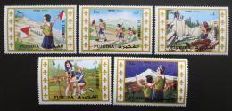 Poštovní známky Fudžajra 1971 Skautské setkání v Japonsku Mi# 707-11