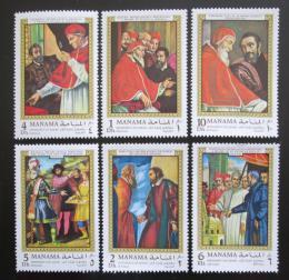 Poštovní známky Manáma 1970 Život Michelangela Mi# 277-82 Kat 8€