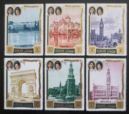 Poštovní známky Adžmán 1971 Cesty císaøe Hirohita po Evropì Mi# 1040-45 Kat 8€