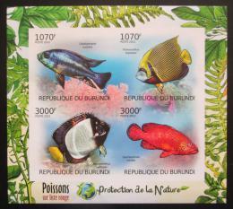 Poštovní známky Burundi 2012 Ryby neperf. Mi# 2545-48 B