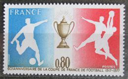Poštovní známka Francie 1977 Francouzský fotbalový pohár, 60. výroèí Mi# 2035