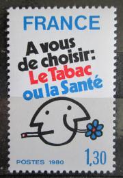 Poštovní známka Francie 1980 Kampaò proti kouøení Mi# 2200