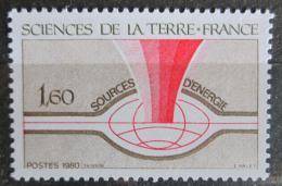 Poštovní známka Francie 1980 Energetické zdroje Mi# 2213