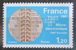 Poštovní známka Francie 1981 Mikroelektronický prùzkum Mi# 2245