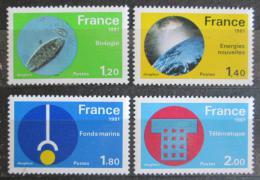 Poštovní známky Francie 1981 Vìda a technika Mi# 2252-55