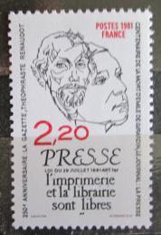 Poštovní známka Francie 1981 Publicisti Mi# 2267