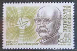 Poštovní známka Francie 1981 Marc Boegner, teolog Mi# 2292