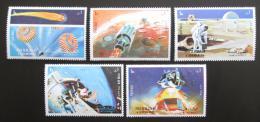 Poštovní známky Šardžá 1972 Mise Apollo 16 Mi# 982-86
