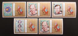 Poštovní známky Šardžá 1972 Mise Apollo 17 Mi# 976-80