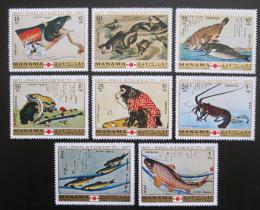 Poštovní známky Manáma 1971 Umìní, zvíøata Mi# 456-63