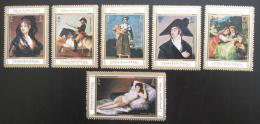 Poštovní známky Manáma 1971 Umìní, Goya Mi# 786-91