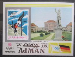 Poštovní známka Adžmán 1971 LOH Mnichov, skok o tyèi Mi# Block 247 Kat 8€