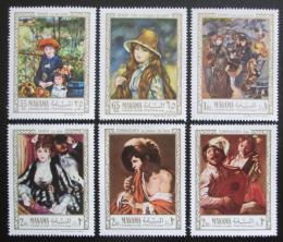 Poštovní známky Manáma 1967 Umìní, Renoir a Terbrugghen Mi# 56-61