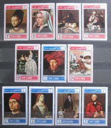 Poštovní známky Umm al-Kuvajn 1968 Umìní starých mistrù Mi# 243-53 Kat 15€