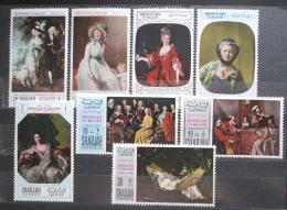 Poštovní známky Rás al-Chajma 1968 Umìní, Den matek Mi# 218-25