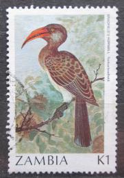 Poštovní známka Zambie 1987 Zoborožec svìtlehnìdý Mi# 394