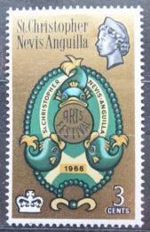 Poštovní známka Svatý Kryštof 1966 Festival umìní Mi# 168