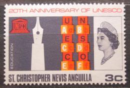 Poštovní známka Svatý Kryštof 1966 UNESCO, 20. výroèí Mi# 172