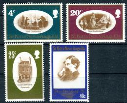 Poštovní známky Svatý Kryštof a Nevis 1970 Charles Dickens, spisovatel Mi# 215-18