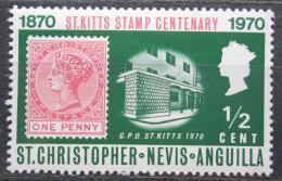 Poštovní známka Svatý Kryštof 1970 První známky, 100. výroèí Mi# 222