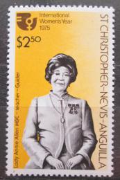 Poštovní známka Svatý Kryštof a Nevis 1975 Annie Allen MBE Mi# 300