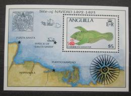 Poštovní známka Anguilla 1986 Objevení Ameriky, 500. výroèí Mi# Block 73 Kat 10€