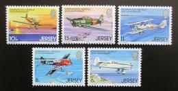 Poštovní známky Jersey, Velká Británie 1979 Letadla Mi# 198-202
