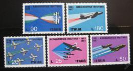 Poštovní známky Itálie 1973 Vojenské letectvo Mi# 1394-98