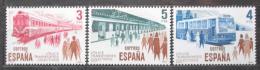 Poštovní známky Španìlsko 1980 Dopravní prostøedky Mi# 2452-54