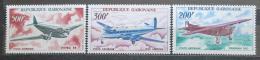 Poštovní známky Gabon 1967 Letadla TOP SET Mi# 273-75 Kat 28€