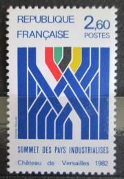 Poštovní známka Francie 1982 Konference svìtového hospodáøství Mi# 2341