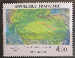 Poštovní známka Francie 1984 Umìní, Jean Messagier Mi# 2433