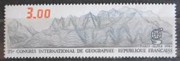 Poštovní známka Francie 1984 Kartogram pohoøí Mi# 2458