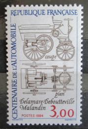 Poštovní známka Francie 1984 Automobilový prùmysl, 100. výroèí Mi# 2468