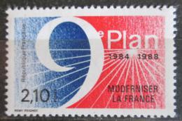 Poštovní známka Francie 1984 Pìtiletý plán modernizace Mi# 2475