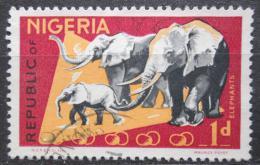 Poštovní známka Nigérie 1969 Sloni Mi# 176 C