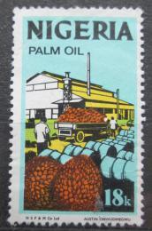 Poštovní známka Nigérie 1973 Výroba palmového oleje Mi# 282 II Y