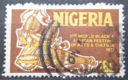Poštovní známka Nigérie 1976 Tradièní africké hudební nástroje Mi# 326