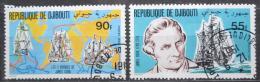 Poštovní známky Džibutsko 1980 James Cook a plachetnice Mi# 287-88