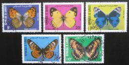 Poštovní známky Džibutsko 1984 Motýli Mi# 386-90