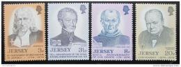 Poštovní známky Jersey, Velká Británie 1974 Osobnosti Mi# 103-06