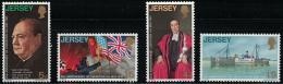 Poštovní známky Jersey, Velká Británie 1970 Osvobození Mi# 26-29 Kat 6.50€