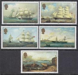 Poštovní známky Jersey, Velká Británie 1985 Umìní, Philip John Ouless Mi# 342-46