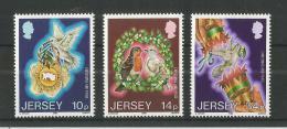 Poštovní známky Jersey, Velká Británie 1986 Vánoce Mi# 393-95