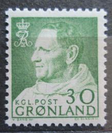 Poštovní známka Grónsko 1968 Král Frederik IX. Mi# 71