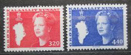 Poštovní známky Grónsko 1989 Královna Markéta II. Mi# 189-90